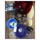 Wrought iron holder & glass vases
