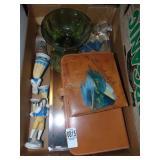 Leather bathroom kit, porcelain dolls