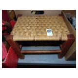 Woven Wicker Bench