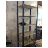 Metal Shelf and (4) foot weights