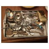 Lot of sterling and silverplate flatware