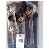 Snap On adjustable wrench set