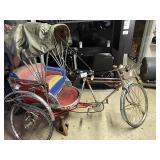 Rare Vintage Rickshaw Bicycle