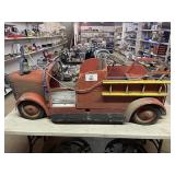 Vintage Childs Fire Truck Wood