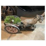 Donkey Cart Garden Ornament
