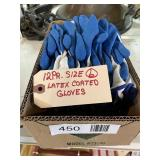 (12) Size L Latex Coated Gloves