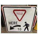 Yield to Pedestrians Sign