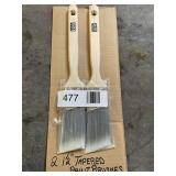 """(2) 1/2"""" Tapered Paint Brushes"""