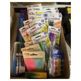 Dry Erase Pens Post-It Notes Crayons