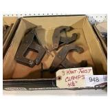 """(3) Kant-Twist Clamps 4 1/2"""""""