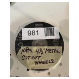 """(10) 4 1/2"""" Metal Cut Off Wheels"""