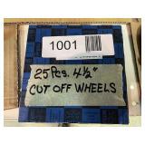 "(25) 4 1/2"" Cut Off Wheels"