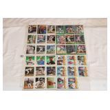 8-SHEETS MIXED BASEBALL CARDS