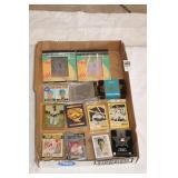 BOX MIXED BASEBALL CARDS, PUZZLE & CDS