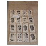 4-SHEETS BLACK & WHITE BASEBALL CARDS