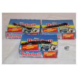 3-BOXES 1989 TOPPS BASEBALL CARDS