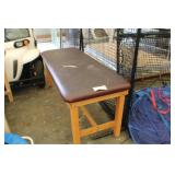 Wooden Table w/cushion top layer