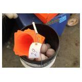Bucket of SoftHit squishy balls w/cones
