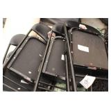 (4) Black Fold Chairs