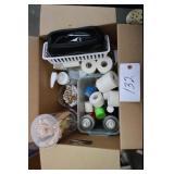 box of pop sticks, adhesive medical tape
