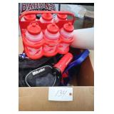 Box of sport squirt water bottles