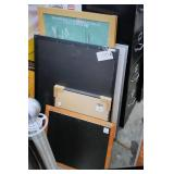 lot of chalk board, picture frames
