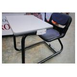 Connected cushioned Chair and desk