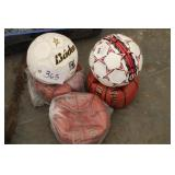 3 Spalding Basketballs and 2 Soccerballs