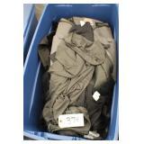 Blue Bin of sporting clothes w/NIKE Bag