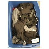 Blue Bin of sporting clothes