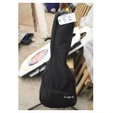 guitar w/carrying bag and stand