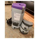 Battery backpack vacuum
