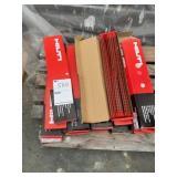 "(13) boxes of Hilti 1-1/4"" screws"