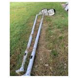 (2) 14 foot light poles