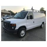 2014 Ford E150 Cargo Van with Bins and Bulkhead