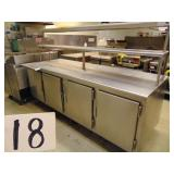 Stainless Steel Hot Box Station with Hatco Warmer