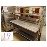 Stainless Steel Gas Steam Table
