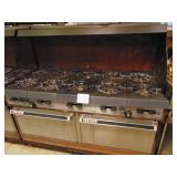 Garland Gas Double Oven 10 Burner Stove