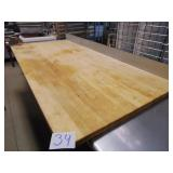 Wooden Butcher Block Table Top with Edlund Can Ope