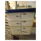 2 count 12 Qt Food Containers with Lids