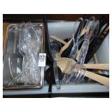 Salad Tongs Plastic Spoons
