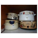4 Crock Pots