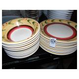 9 Stoneware Dinner Plates and 10 Bowls matching