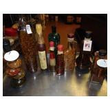 Decorative Vinegar and Oil Bottles