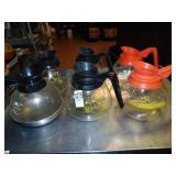 4 Regular Coffee Pots and 2 Decaf Coffee Pots