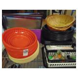 Menu Covers 20 count  and  Plastic Baskets 48