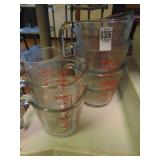 Pyrex Measuring Cups 5 count