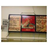 Light Up Coca Cola Menu Sign with letters