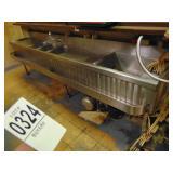 "Under Bar Wash Sink 4 bay 108"" long"