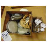 Pot Lids Castors and Glassware